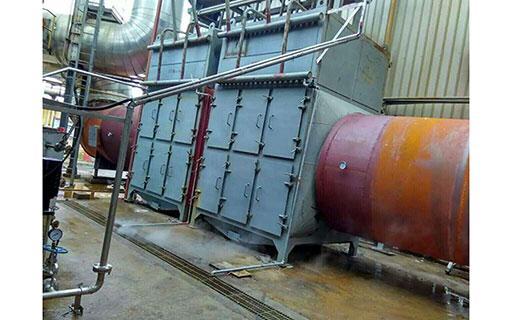 使用中的分体式热管余热锅炉